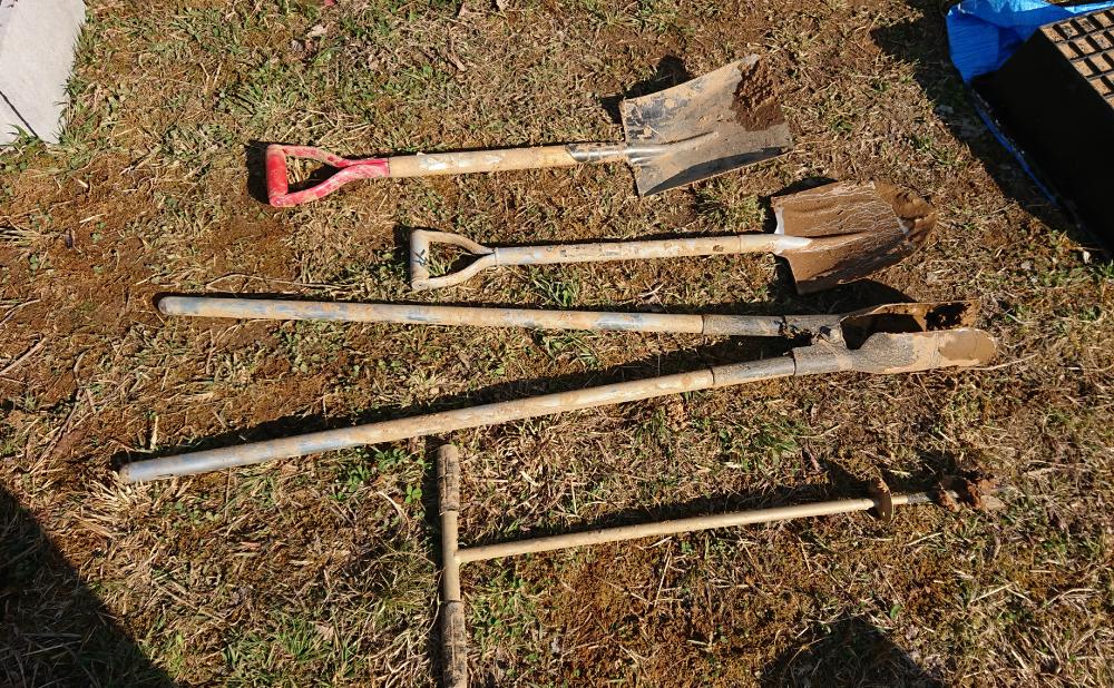 使用道具(浸透ますの設置)